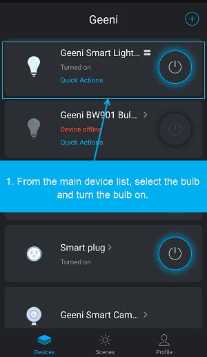 How to check firmware update for Geeni devices in the Geeni